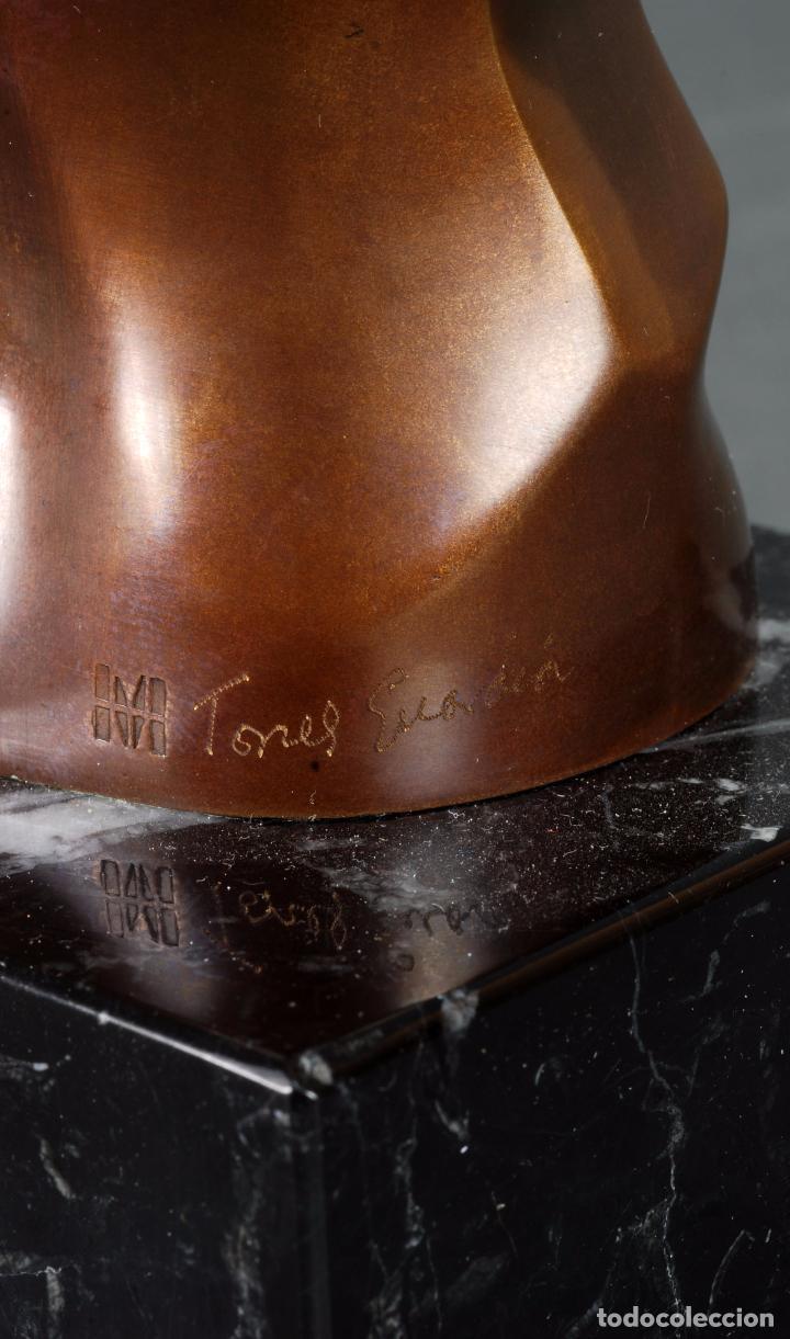 Arte: Escultura Marte torso masculino bronce patinado José Torres Guardia firmado numerado certificado - Foto 7 - 92994355