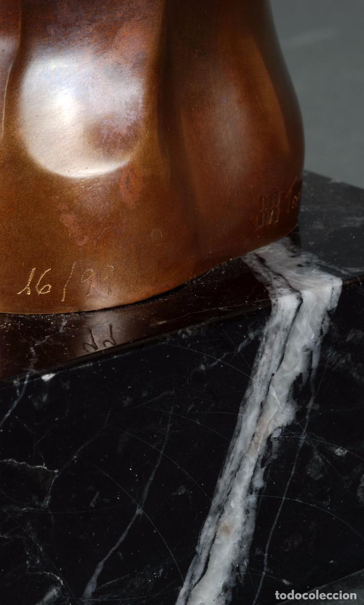 Arte: Escultura Marte torso masculino bronce patinado José Torres Guardia firmado numerado certificado - Foto 8 - 92994355