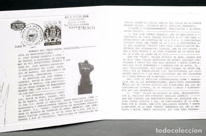 Arte: Escultura Marte torso masculino bronce patinado José Torres Guardia firmado numerado certificado - Foto 9 - 92994355