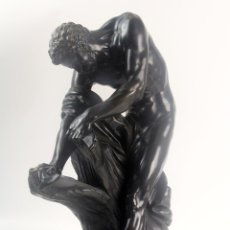Arte: MILO DE CROTON. ESTATUA EN BRONCE. EDME DUMONT(1722-1775). FIRMADA EN BASE. AÑO 1768.. Lote 93760420