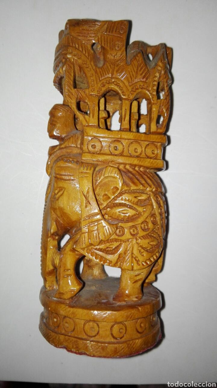 ELEFANTE TALLADO EN MADERA 13 CM (Arte - Escultura - Madera)
