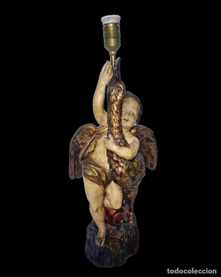 ANTIGUO ÁNGEL DE TERRACOTA. PIEZA NUMERADA. (Arte - Escultura - Terracota )