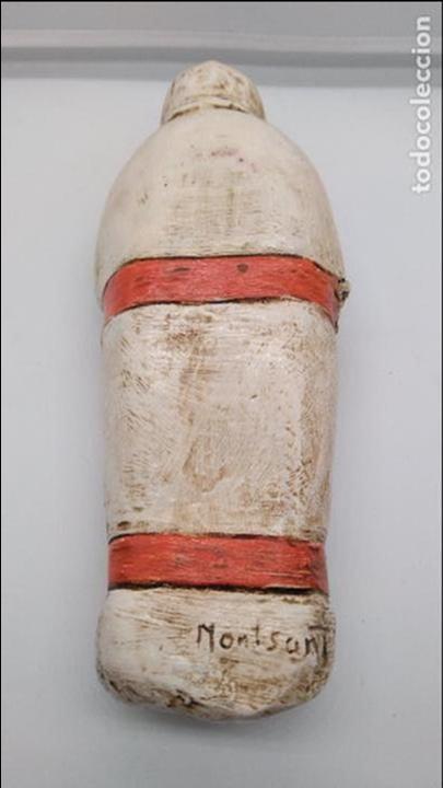 Arte: Antigua escultura de terracota niño esquimal firmado en el reverso, hecho y policromado a mano . - Foto 5 - 94953491