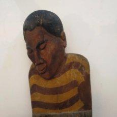 Arte: INTERESANTE TALLA AFRICANA - HOMBRE DORMIDO - PENJWA - PALABRA ZULU. Lote 95051515