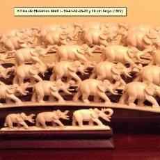 Arte: 6 FILAS DE ELEFANTES DE MARFIL. Lote 96760959
