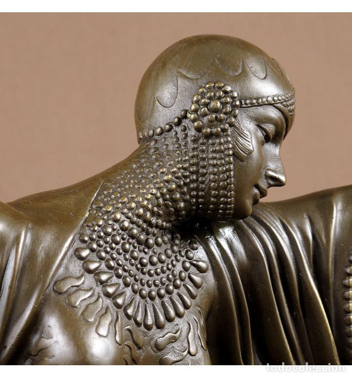 Arte: Esculturas. Escultura artesanal en bronce a la cera perdida Mujer Art Decó Thais - Foto 2 - 96879243
