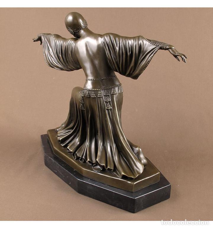 Arte: Esculturas. Escultura artesanal en bronce a la cera perdida Mujer Art Decó Thais - Foto 3 - 96879243