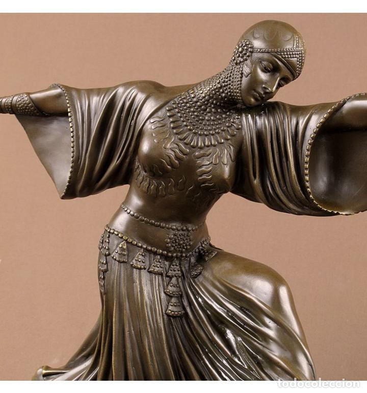 Arte: Esculturas. Escultura artesanal en bronce a la cera perdida Mujer Art Decó Thais - Foto 4 - 96879243