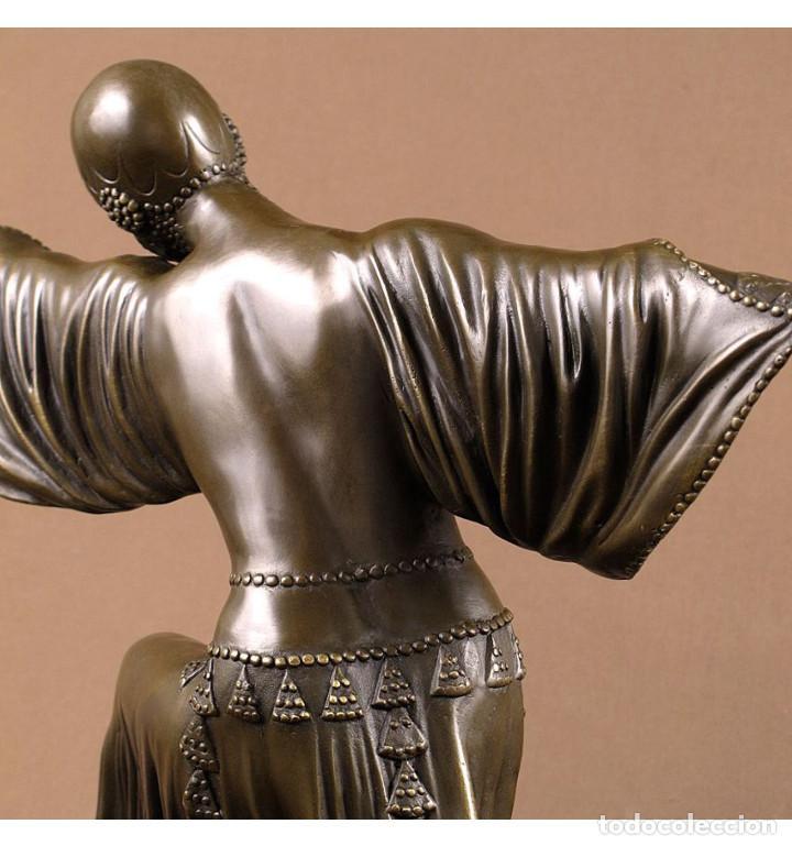 Arte: Esculturas. Escultura artesanal en bronce a la cera perdida Mujer Art Decó Thais - Foto 5 - 96879243