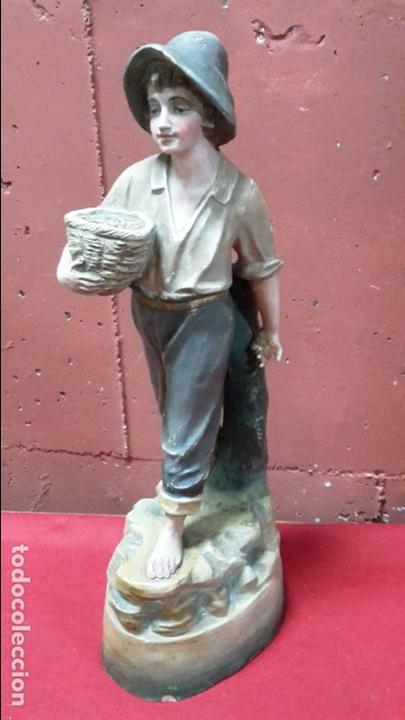 ESCULTURA TERRACOTA/ARCILLA/BARRO DE PESCADOR FF XIX, PP XX (Arte - Escultura - Terracota )