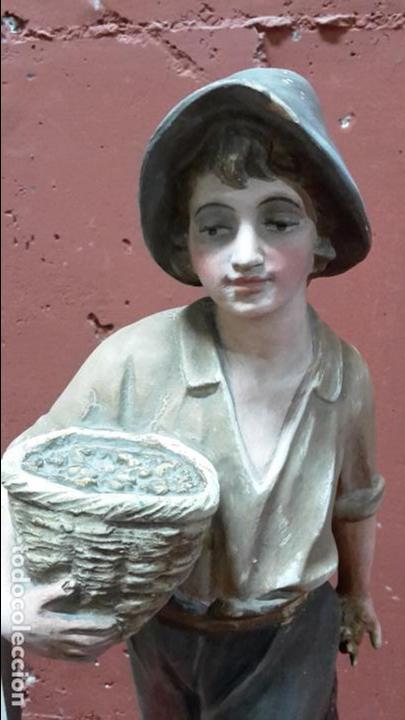 Arte: Escultura terracota/arcilla/barro de pescador ff XIX, pp XX - Foto 2 - 97077047