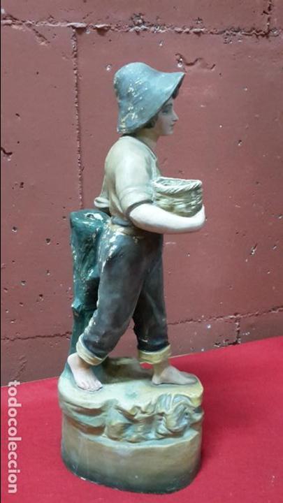 Arte: Escultura terracota/arcilla/barro de pescador ff XIX, pp XX - Foto 3 - 97077047