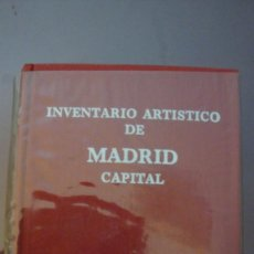 Arte: INVENTARIO ARTISTICO DE MADRID CAPITAL. TOMO I. Lote 97386479