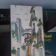 Arte: AZULEJO PINTADO A MANO ARCOS DE LA FRONTERA CADIZ BARRO COCIDO FIRMADO 28 X 14 CM. Lote 97443255