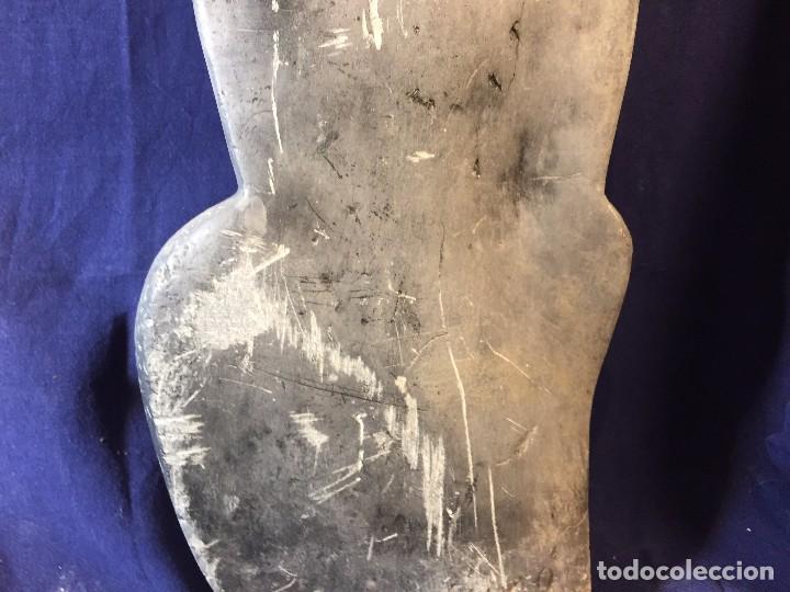 Arte: escultura figura con tocado ojos nariz boca piedra tallada firmada C. MAPEUMO 2000 80x25x15cms - Foto 34 - 97457075