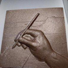 Arte: SUBIRACHS - (1988,) MEDALLA DE COBRE BARCELONA RAMON FUSTER - FREDERIC MISTRAL -. Lote 98016399