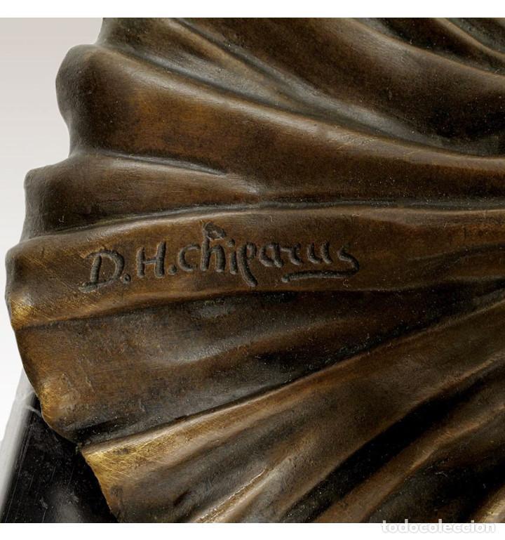 Arte: Esculturas. Escultura artesanal en bronce a la cera perdida Mujer Art Decó sentada Tanara - Foto 6 - 98204879