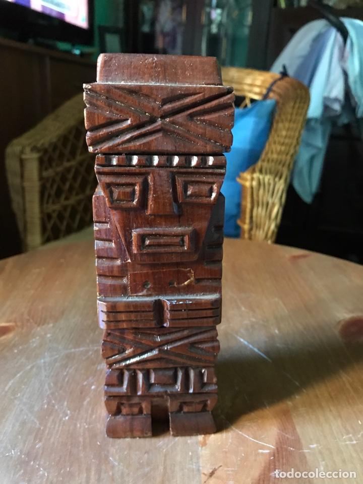 Arte: Ser o ídolo precolombino madera - Foto 4 - 98357186