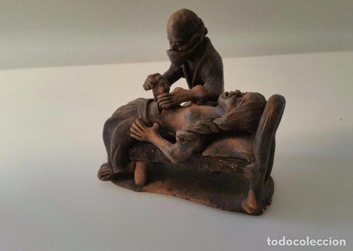 IMPACTANTE ESCULTURA DE UNA CESÁREA - AUTOR DESCONOCIDO (Arte - Escultura - Terracota )
