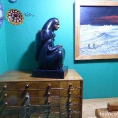 Arte: ,,,ESCULTURA EN MADERA EBONIZADA,,,MUY BUENA CALIDAD Y DETALLE,,,. Lote 98918559