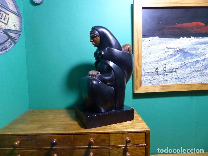 Arte: ,,,ESCULTURA EN MADERA EBONIZADA,,,MUY BUENA CALIDAD Y DETALLE,,, - Foto 3 - 98918559