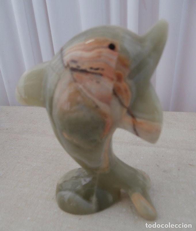 FIGURA DELFÍN TALLADO EN PIEDRAS DURAS (Arte - Escultura - Piedra)