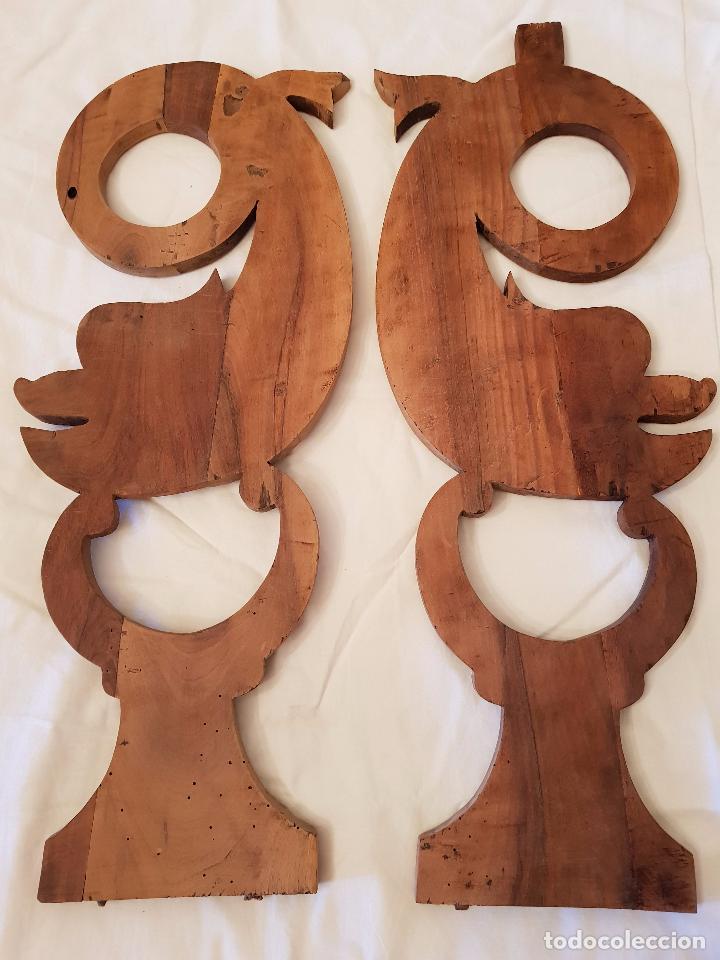 Arte: Delfines o tritones talla nogal. Isabelinos. Siglo XIX - Foto 2 - 99839523