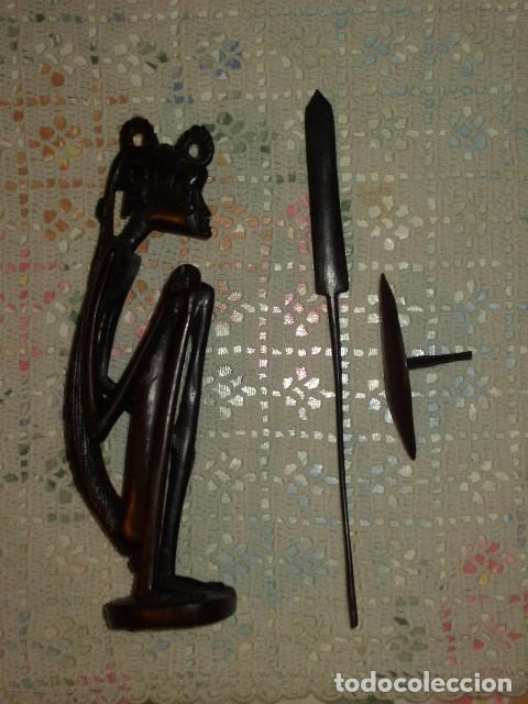 Arte: VINTAGE,FIGURA TALLADA EN MADERA DE EBANO - Foto 5 - 100000263