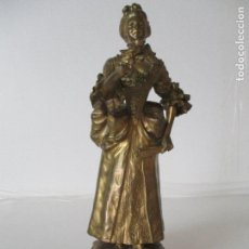 Arte: ERNEST WANTE - BÉLGICA (1872-1960) - ESCULTURA - FIGURA FEMENINA - BRONCE - FIRMADA - 27,5 CM ALTURA. Lote 100075539