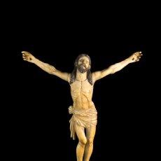 Arte: CRISTO MARFIL INDO-PORTUGUÉS SIGLO XVII. Lote 100224943