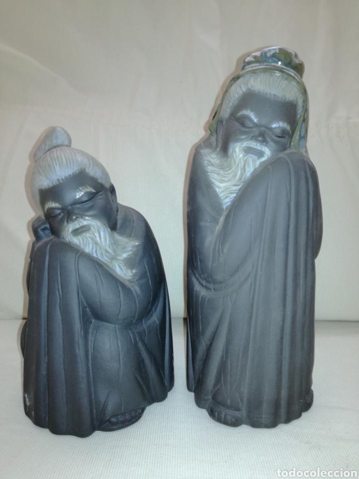 PAREJA FIGURAS ORIENTALES LLADRÓ. (Arte - Escultura - Porcelana)