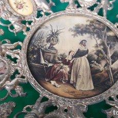 Arte: PLATO DE BRONCE PINTURA FIRMADO BONET. 40 CTM. Lote 101149999