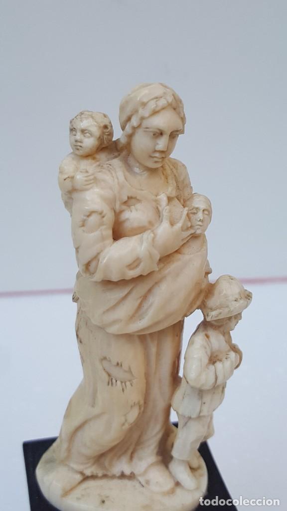 MATERNIDAD DE MARFIL DIEPPE. FIGURA DE MARFIL ANTIGUO. TOP!!!!! (Arte - Escultura - Marfil)