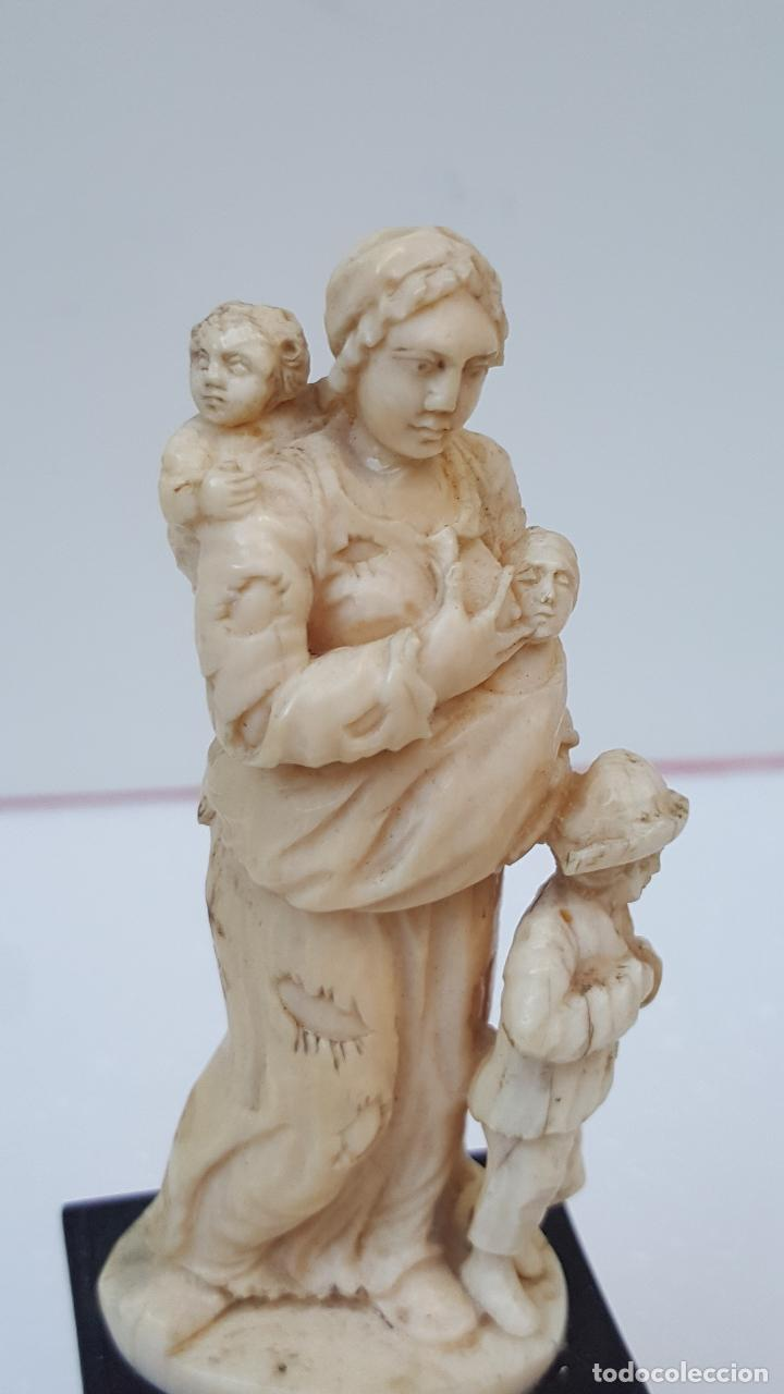 Arte: Maternidad de marfil Dieppe. Figura de marfil antiguo. TOP!!!!! - Foto 5 - 101368959