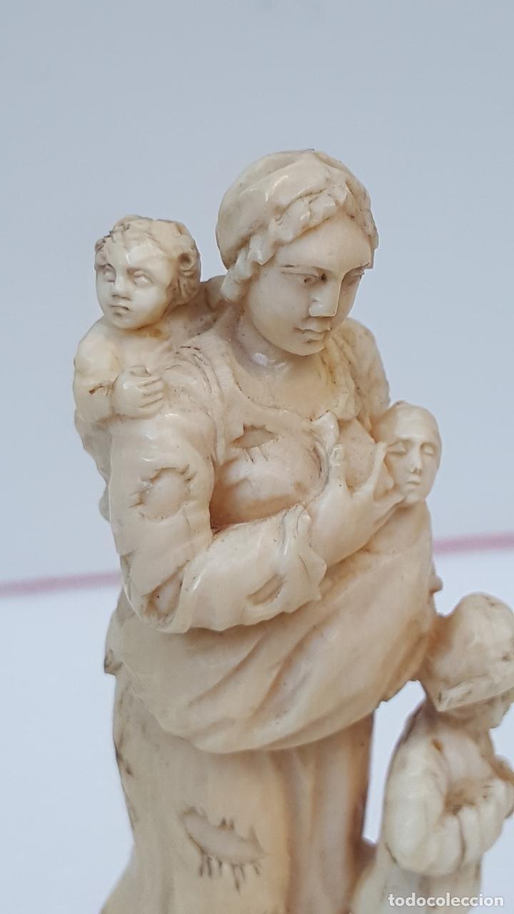 Arte: Maternidad de marfil Dieppe. Figura de marfil antiguo. TOP!!!!! - Foto 6 - 101368959