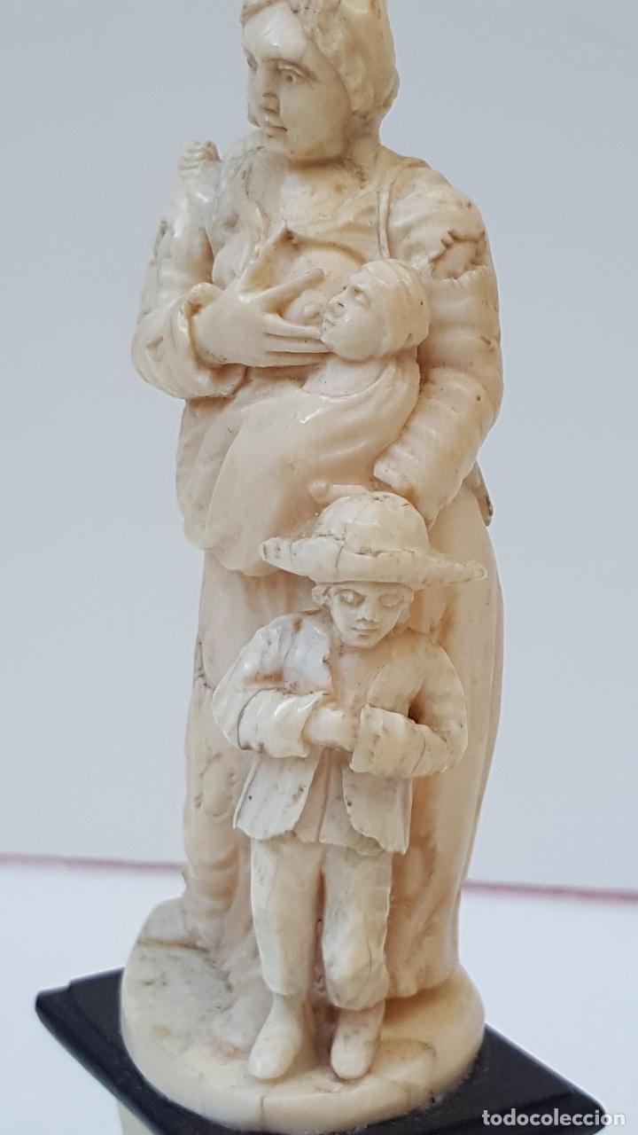 Arte: Maternidad de marfil Dieppe. Figura de marfil antiguo. TOP!!!!! - Foto 7 - 101368959