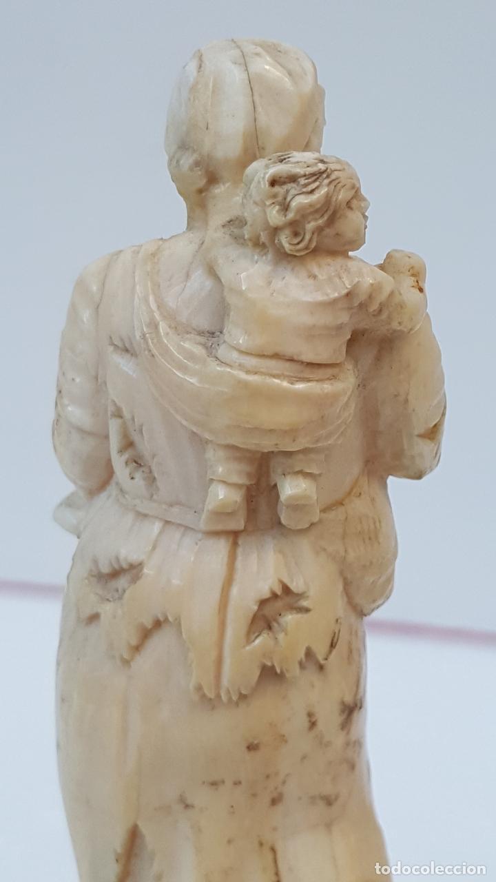 Arte: Maternidad de marfil Dieppe. Figura de marfil antiguo. TOP!!!!! - Foto 8 - 101368959