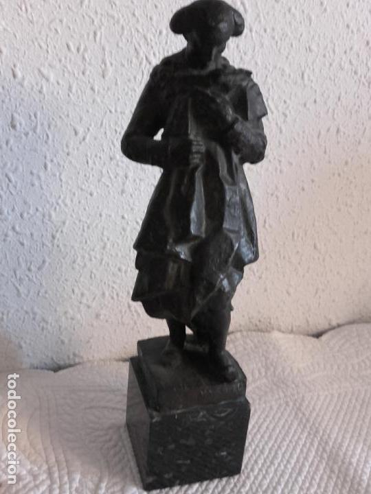 FIGURA TORERO EN BRONCE FIRMADA NAVARRO (Arte - Escultura - Bronce)