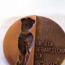Arte: SUBIRACHS - MEDALLA LA SEDA DE BARCELONA S.A. 1925 - 1975.. Lote 102049199