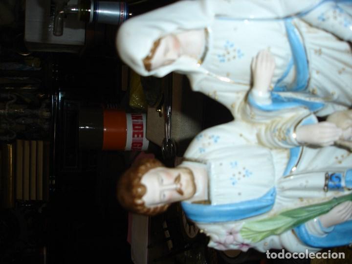 Arte: bonita escultur en porcelana viejo paris de una sagrada familia - Foto 2 - 102365587