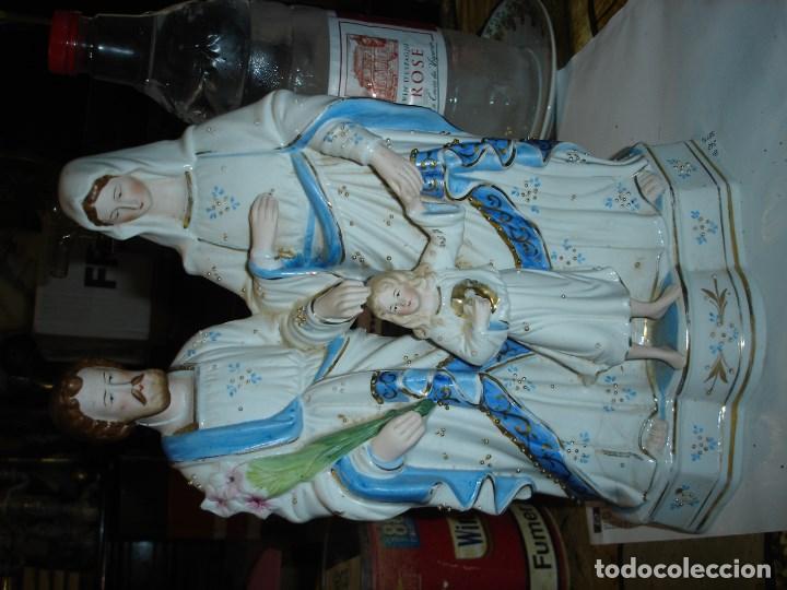 Arte: bonita escultur en porcelana viejo paris de una sagrada familia - Foto 4 - 102365587