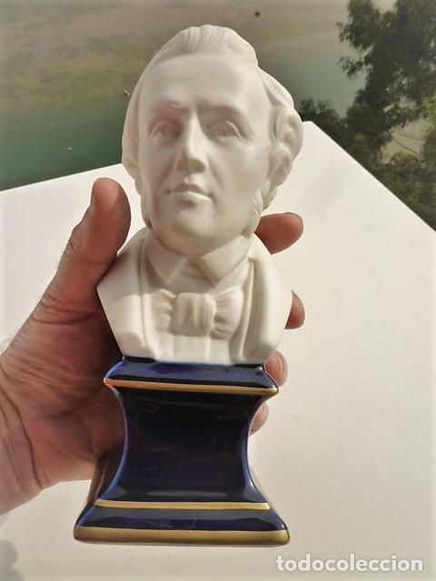BUSTO CHOPIN 1810 1949 EN BISCUIT PORCELANA DE DE LIMOGES MIDE 20,5 CMS. SELLADO PERFECTO (Arte - Escultura - Porcelana)