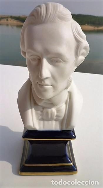 Arte: BUSTO CHOPIN 1810 1949 EN BISCUIT PORCELANA DE DE LIMOGES MIDE 20,5 CMS. SELLADO PERFECTO - Foto 2 - 102452215