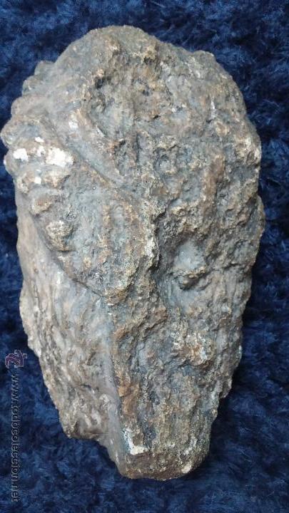 Arte: Antigua cabeza en piedra caliza posiblemente perteneciente a relieve - Foto 4 - 52175619