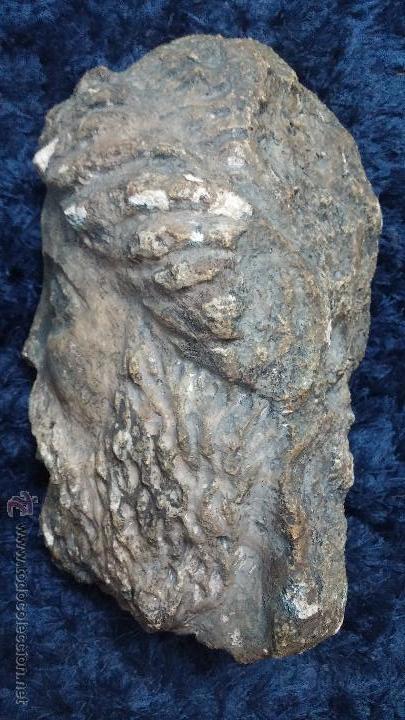 Arte: Antigua cabeza en piedra caliza posiblemente perteneciente a relieve - Foto 5 - 52175619