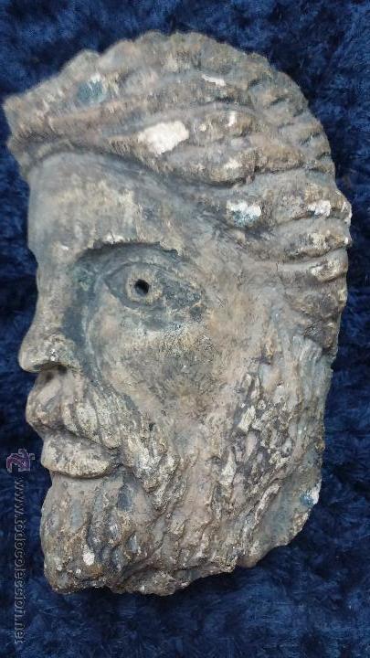 Arte: Antigua cabeza en piedra caliza posiblemente perteneciente a relieve - Foto 6 - 52175619