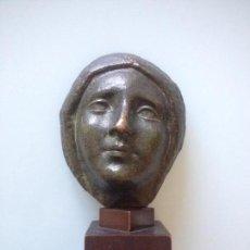 Arte: CARA ROSTRO MUJER EN BRONCE FIRMA JUAN SAVALL ROMEU ( REUS 1892-1971). Lote 103510447