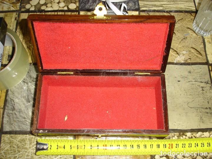 Arte: muy bonita caja en madera de palisandro y marqueteria en nacar trabajo de indochina siglo XIX - Foto 2 - 103773623