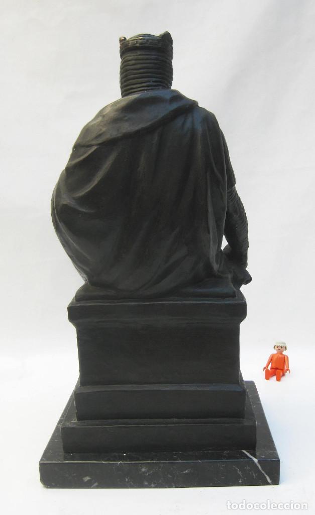 Arte: BESTIAL ESCULTURA VICENTE LLORENS POY REY DON JAIME BRONCE SOBRE MARMOL REY ARAGON VALENCIA BALEARES - Foto 8 - 103801619