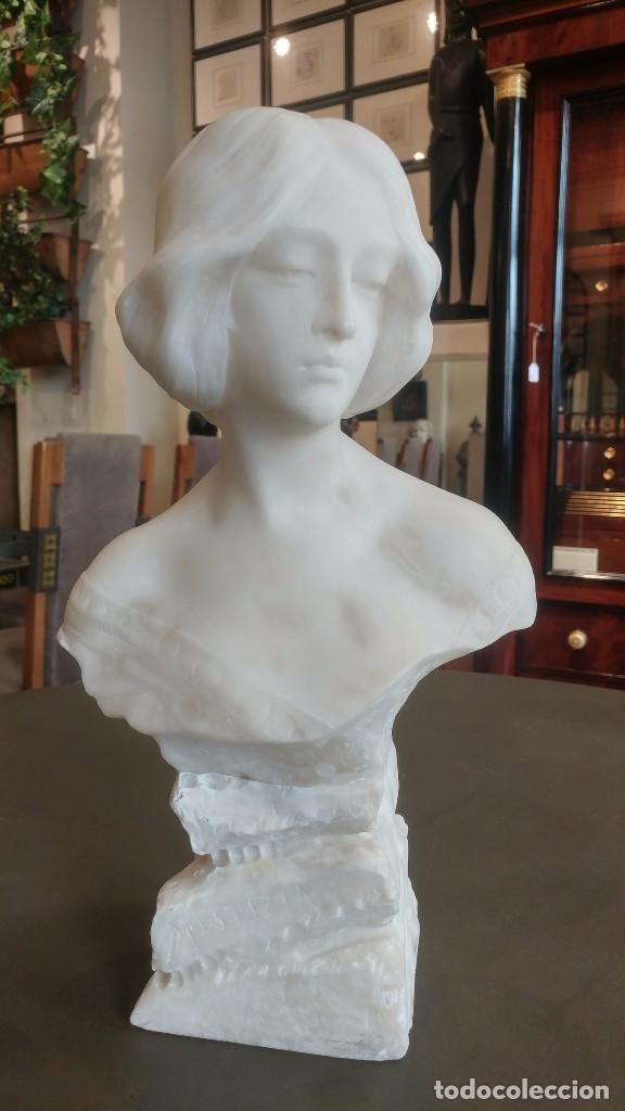 BUSTO DAMA ALABASTRO (Arte - Escultura - Alabastro)